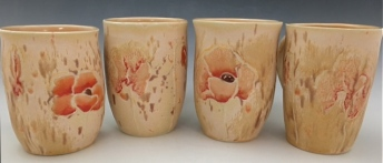 BEACH POPPY CUPS . $28-32